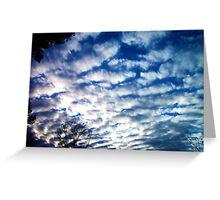 Ruffled Clouds Greeting Card