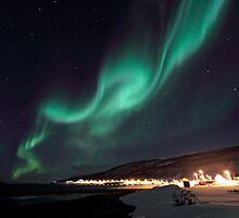 Big dipper & Aurora Borealis by Frank Olsen