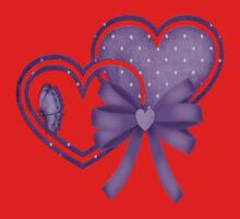 Lilac Hearts Kids Clothes