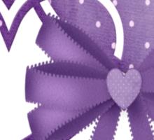 Lilac Hearts Sticker