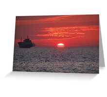 A sunset in Pendik,Istanbul. Greeting Card