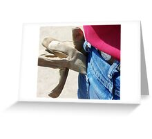 OH, TO BE A GLOVE! Greeting Card