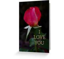 rose bud love card Greeting Card