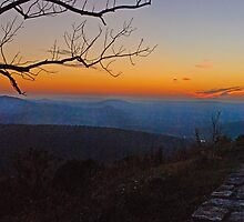 Sunrise on the Blue Ridge Parkway by Robert H Carney