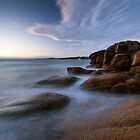 Honeymoon Bay, Tasmania by Michael Treloar