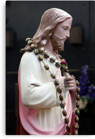 Jesus and the Rosary by Rookwood Studio ©