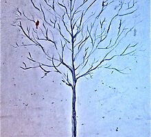 Tree in Winter (Blue) by Kayla Lisa