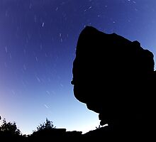 Star Trails at Brimham Rocks by Guy Carpenter