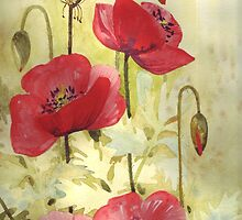 Poppies by Val Spayne