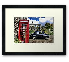 Phonebox and Morris Minor, Low Row Framed Print