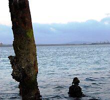 Sunset on Sea grave no. 10  by B-BennyB