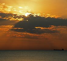 Morning Freighter by Bill Spengler