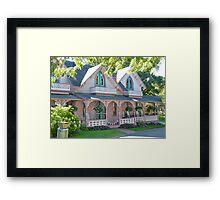 GingerBread Houses, Oak Bluffs,  Framed Print