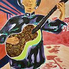 Guitar Man (acrylic) by Laurelyn Johnson