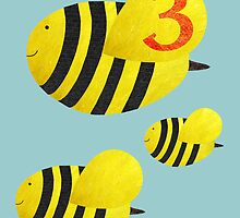 Age Three Bees by Fiona Reeves
