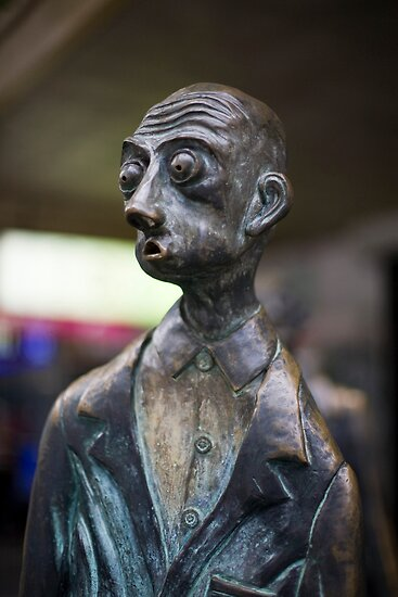 The Surprised Man on Bourke Street ,Melbourne by Pauline Tims