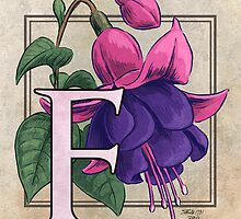 F is for Fuchsia card by Stephanie Smith