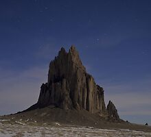 Starry Night: Shiprock by TheBlindHog
