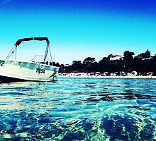 The Boat On The Bay by Kym Slark