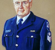 Portrait of Senior Sergeant Greg Quillinan by Lynda Robinson