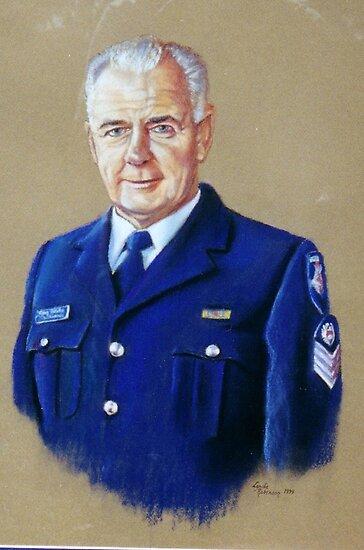 Portrait of Senior Sergeant Greg Quillinan by Lynda Robinson