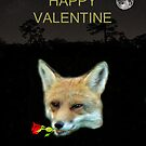 Eftalou Fox Max with rose HAPPY VALENTINE by Eric Kempson