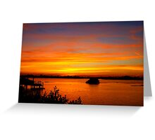 Streaky sky Greeting Card