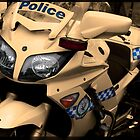 Police bike ready for action by Andrew Prince