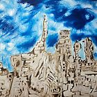 Blue skies and carved city by Initially NO