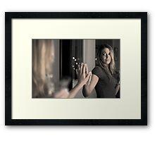 Mirror in a mirror Framed Print