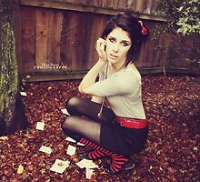 Red Striped socks by Liviphotography