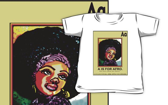 A IS FOR AFRO by SOL  SKETCHES™