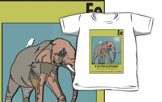 E IS FOR ELEPHANT by SOL  SKETCHES™