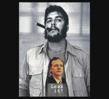Che wears Assange! by watertigerleo