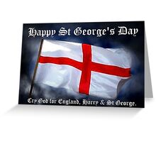 St George's Day card Greeting Card