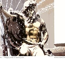 Cheltenham - Neptune Fountain by Sue Porter