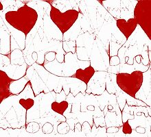 Heart beat - card & canvas size by Penny V-P