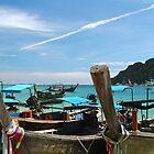 Boats in an island. by debjyotinayak