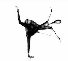 Ballerina silhouette - scribble art by Penny V-P