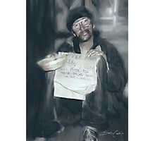 Homeless by Night Photographic Print