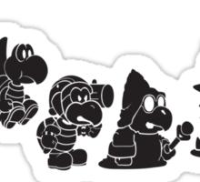 Reptilian Evolution in The Mushroom Kingdom Sticker