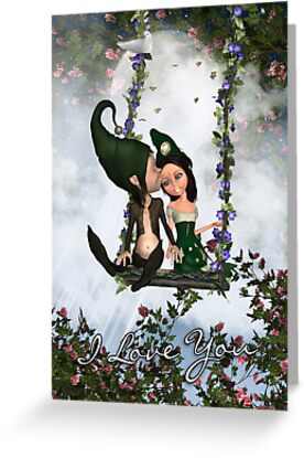 Little Elves Valentine's Day Card by Moonlake