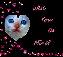 Will You Be Mine Valentine Kitten by Sandra Moore