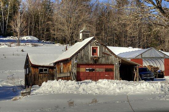 Winter Barn by Monica M. Scanlan