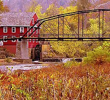 Ozark Mill Stream by NatureGreeting Cards ©ccwri