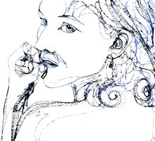 Kel Blue - 30 second Scribble by Susana Weber