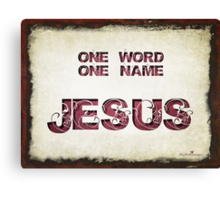 One word... Canvas Print
