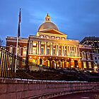 Massachusetts State House - After Dark by Stephen Cross Photography