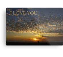 romantic sunset i love you card Metal Print