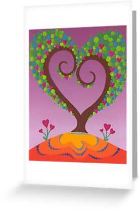 A blossoming heart tree by Elspeth McLean